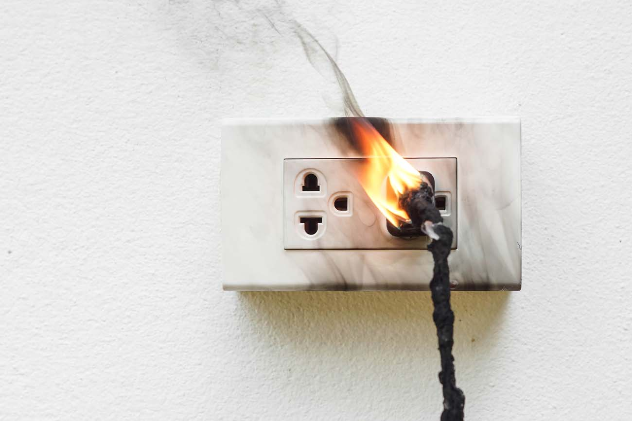 Electrical Outlet on Fire